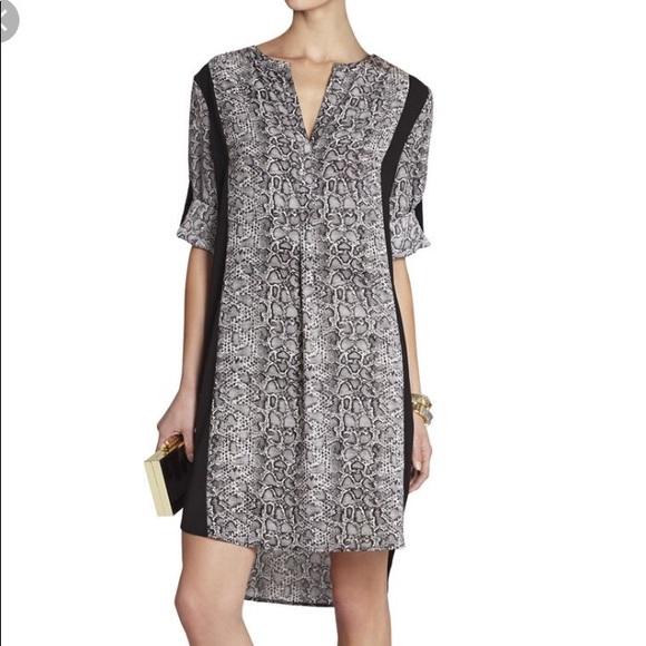 9f8d8366d8 BCBG Paige shirt dress black leopard print S